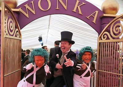 Theming & Entertainment we supplied for a Willy Wonka Theme Ball