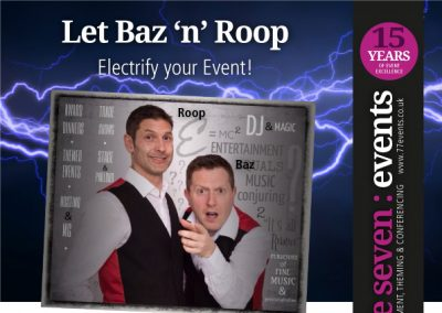 Baz 'n' Roop - Electrify Your Event!