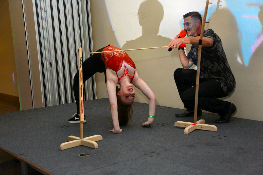 MC Roop's limbo competition