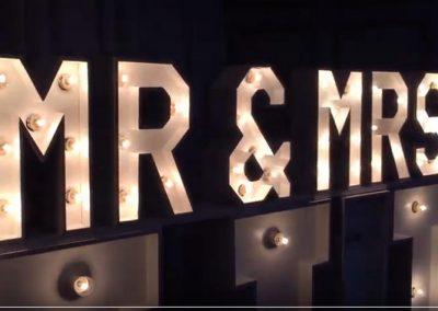 Mr & Mrs Giant letters & singer